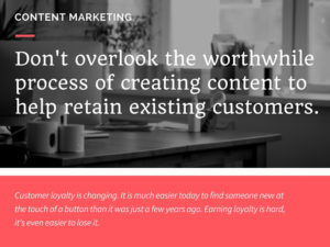 retain existing customers