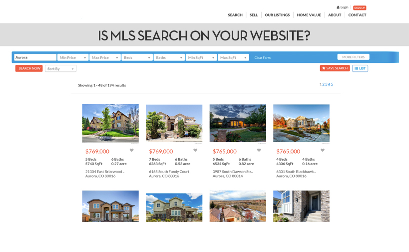 Real Estate Website Design South Carolina