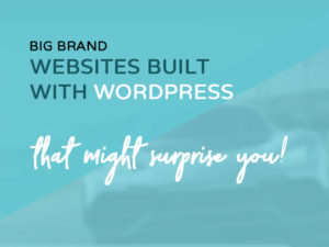 websites built with wordpress